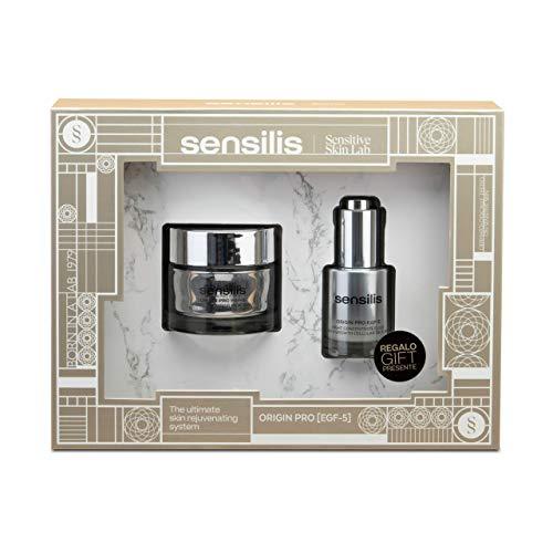 Sensilis Origin Pro EGF-5 - Kit de Belleza con Crema de Día Antiarrugas (50 ml) + Elixir Concentrado de Noche (20 ml)