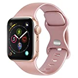 TOOB Cinturino Compatibile per Apple Watch Cinturino 38mm 42mm 40mm 44mm, Silicone Cinturino di Ricambio Compatibile per iWatch/Apple Watch Series 6 5 4 3 2 1 SE