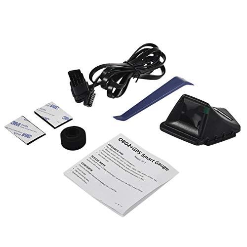 gilivableskr AP1 Universal Car HUD Dual System Head Up Display Velocímetro Digital OBD GPS Velocidad del Vehículo mph RPM del Motor Advertencia De Exceso De Velocidad Classic