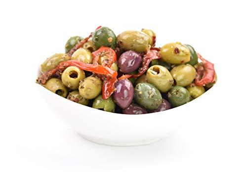 Marinated Pitted Olives - Bella Napoli - Net 1KG [500 Gr Ndw] , Net 1.5KG...