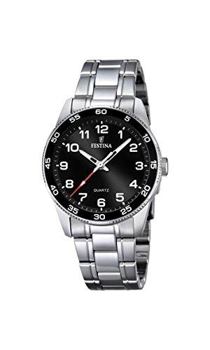 Festina Unisex Analog Quarz Uhr mit Edelstahl Armband F16905/4