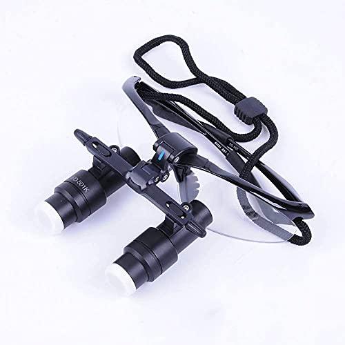 XYSQWZ Lupa con Luz, Lupas Binoculares QuirúRgicas Dentales 4X 420Mm Lupas Profesionales Lupa De Vidrio óPtico MéDico PortáTil con Marco De PláStico