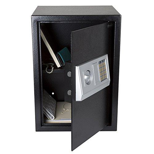 Stalwart Digital Safe-Electronic, Extra-Large, Steel, Keypad, 2 Manual Override Keys-Protect Money,...