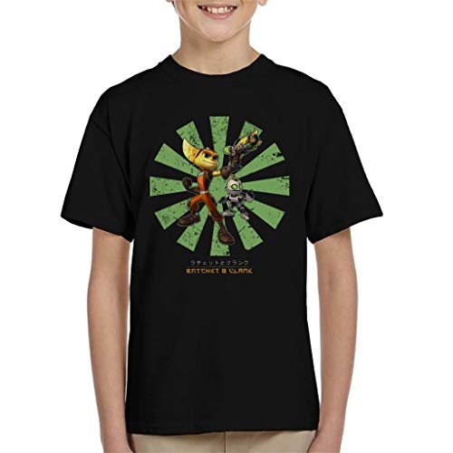 Ratchet and Clank Retro Japanese Kid's T-Shirt