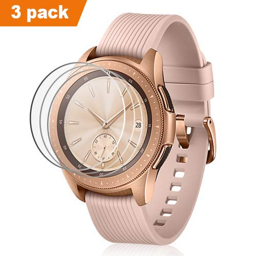 Aimtel Kompatibel mit Samsung Galaxy Watch 42mm Schutzfolie (3 Stück), Gehärtetes Glas Bildschirmschutzfolie HD Transparent Kratzfester Blasenfreier