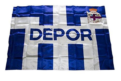 Real Club Deportivo de La Coruña Baddep Bandera, Azul/Blanco, Talla Única