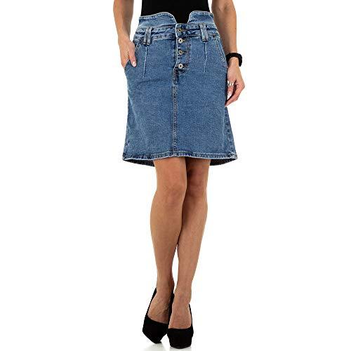 Ital-Design Used Look Jeans Rock Daysie Gr. M/38 Blau