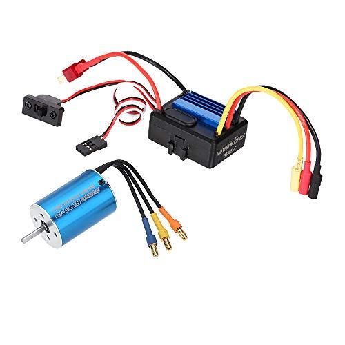 GoolRC 2838 3600KV 4P Sensorless Brushless Motor & 35A Brushless ESC Electronic Speed Controller for 1/14 1/16 1/18 RC Car