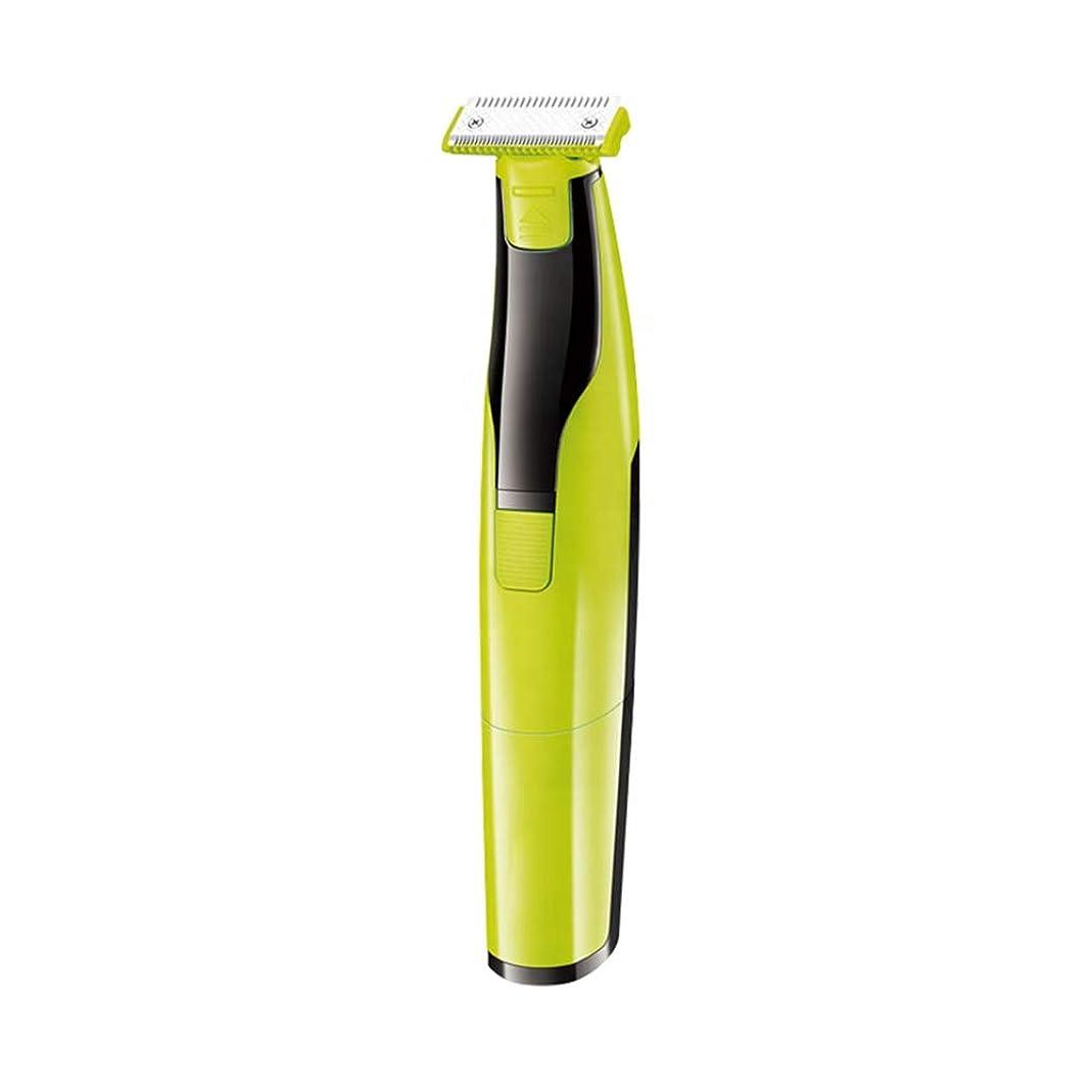 有用重大カウント脱毛器、電気シェーバーバッテリー式コードレス防水ビキニトリマー用女性と男性顔面脇の下脚,Green