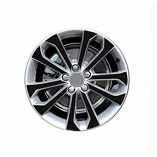 HUANGRONG Automóviles Tapacubos Cubierta 3D 4D Carbon/Mate/Glossy Black Wheel Etiquetas de Rueda para VW Audi Q5 2013-2017 18'Calcomanía de la Rueda Vinyl Protective Film Car Styling