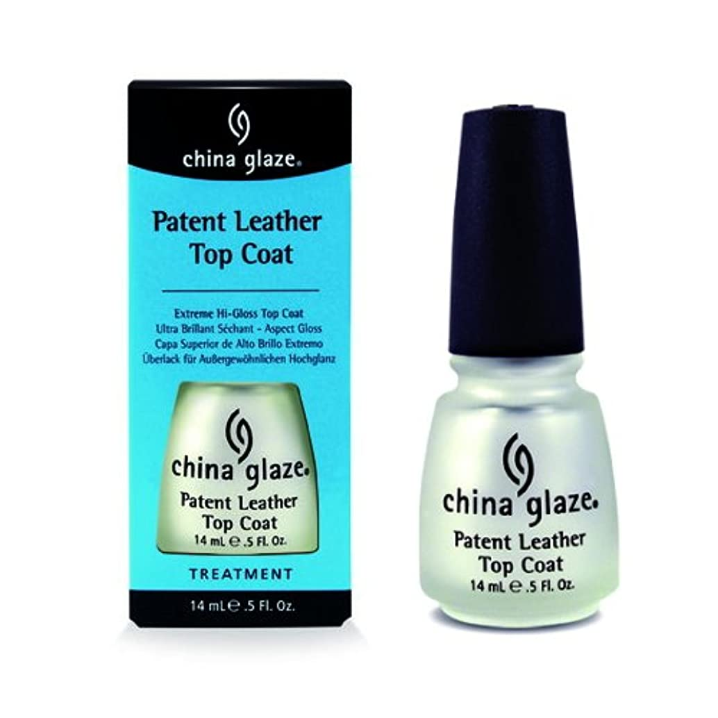 まあドロップ細分化する(6 Pack) CHINA GLAZE Patent Leather Top Coat (Extreme Shine) - CGT915 (並行輸入品)
