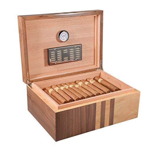 Rangements 70 Caves À Cigares Cigares Etui À Cigarettes En Bois De Cèdre Double Boîte De Rangement Pour Cigares Équipé D'un Humidificateur Et D'un Hygromètre Cadeau