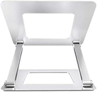 Adjustable Laptop Stand, Hollow Cooling Desktop Elevation Bracket Aluminum Lifting, Silver (Color : A)