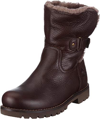 Panama Jack Felia Igloo Damen Warm gefüttert Biker Boots Halbschaft Stiefel & Stiefeletten, Braun (Brown B2), 37 EU (4 Damen UK)