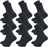 9 Paar Damen und Herren Socken ohne Gummi - venenfre&lich - ohne drückende Naht - Komfortb& (35-38, dunkelgrau)