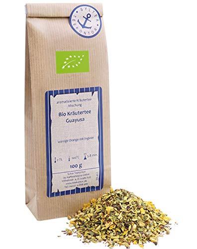 Bio Guayusa 100g Kräutertee Mischung lose Blätter - auch als Ayahuasca und Ilex guayusa bekannt - Kaffee Alternative, Energytee, enthält natürliches Koffein, Herbal Tea