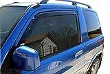 J&J AUTOMOTIVE | Deflecteurs d'air déflecteurs de Vent Compatible avec Mitsubishi Pajero Pinin 3 Portes 1998-2007 2 pièces