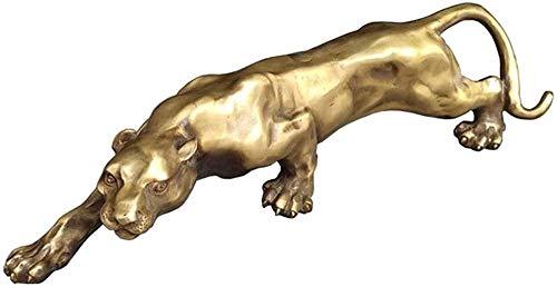 Skulpturen Desktop-Skulptur Leopard Statue Dekoration große Katze Statue Jaguar Skulptur Bronze Skulptur Künstler Home Desk Dekoration Zubehör Tierfiguren