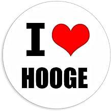 I love Hooge in 2 maten verkrijgbaar stickers meerkleurige sticker decal