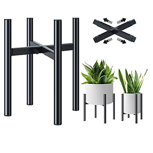 Soportes para Plantas Metal Elegante - Ajustable Soporte Macetas para Flores, Fácil Montaje Soporte...