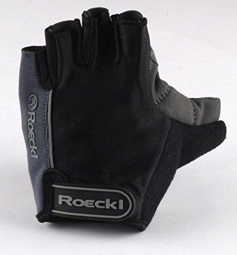 Roeckl guantes de ciclismo MTB verano corto del dedo Negro Azul Gris...