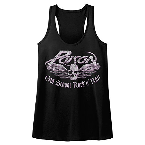 Women's Official Poison Skull and Wings Old School Rock N Roll Tank Top, S to XXL