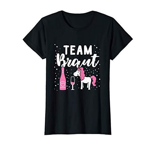 Damen Team Braut JGA Junggesellenabschied Einhorn Hochzeit T-Shirt