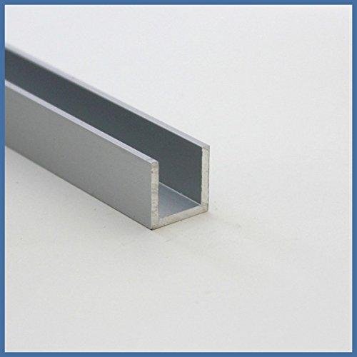 Aluminium U-Wandprofil, 2010 x 15 x 15 x 15 x 2mm, Chromoptik
