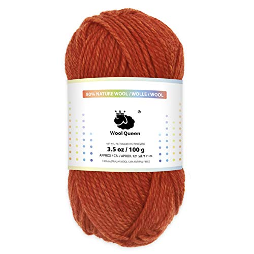 Wool Queen 80% Nature Wool Yarns, A…