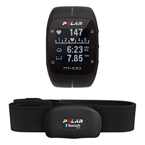Polar M400 HR - Pulsometro y reloj de entrenamiento con GPS integrado y registro de actividad con sensor de...