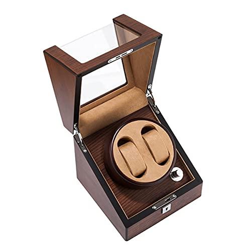 Devanadera de Reloj Doble Caja de Almacenamiento de Reloj mecánico Caja de bobinado de Reloj con Motor japonés Mabuchi Almohada de Reloj Flexible Carcasa de Madera Acabado de Piano Fuente de
