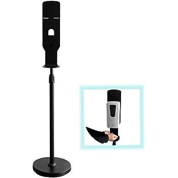 Dispenser + Stand S SMAUTOP Hand Sanitizer Dispenser Stand,Automatic Touchless Hand Sanitizer Dispenser 1000ML and Stainless Steel Floor Stand Station Kit,Adjustable Mist Spray Machine