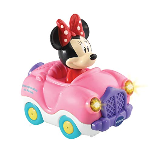 VTech- TutTut Bólidos Disney Descapotable, Multicolor (TTB Minnie)