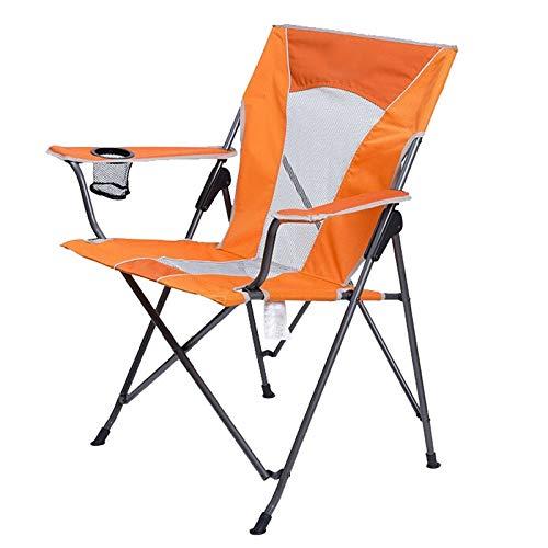 Hasayo Silla Plegable al Aire Libre, Red Transpirable, Silla tapizada, Ligera y cómoda, Reforzada, Pesca (Color : Orange)