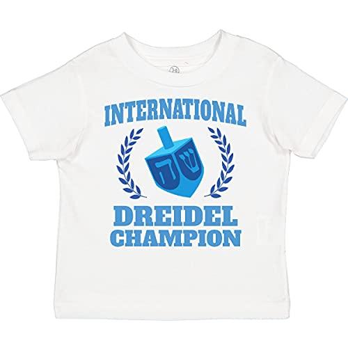 inktastic Dreidel Champion Hanukkah with Blue Toddler T-Shirt 7 White 3869e