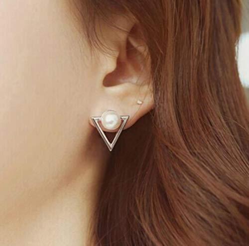 CXWK Pendientes de níquel Bonitos de Moda Pendientes de joyería de Moda Pendientes de botón Cuadrados para Mujer Pendientes llamativos Brincos
