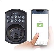 Reagle Smart Lock, Bluetooth Keypad Deadbolt, Apple HomeKit certified, works with Siri, iOS and Android - Dark Bronze