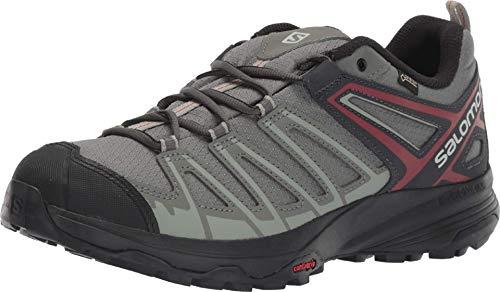Salomon Men's X Crest GTX Hiking Shoes, Castor Gray/SHADOW/Bossa Nova, 10.5