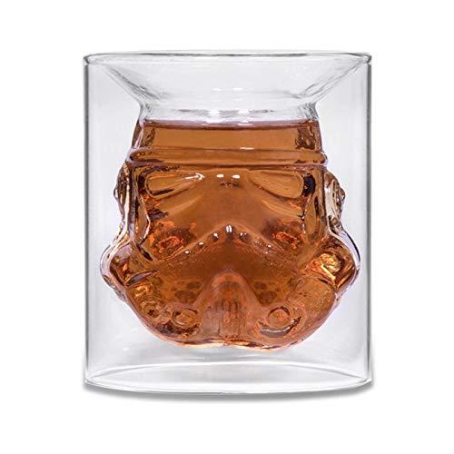 DYHM Bicchiere di Vino Cool Design Star Wars Stormtrooper Birra Vino Whisky Bicchiere da Acqua Bottiglia da 150ml Bicchierino da Cocktail Bicchiere da tè Doppio Strato #355
