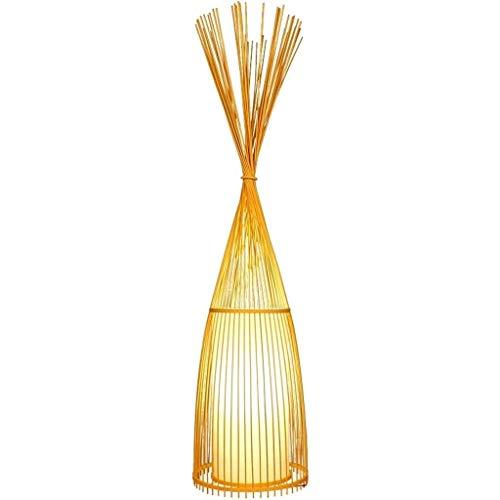 Lámpara de pie, lámpara de pie hecha a mano, mimbre de bambú, decoración creativa, lámparas de pie zen, lámpara de pie, lámpara de pie LED, luz de suelo, luminaria para sala de estar, salón de té, lám