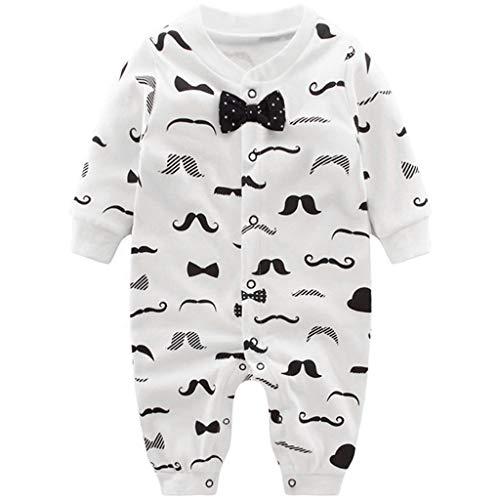 Pyjama Bébé Garçons Combinaisons en Coton Grenouillères Bodys à Manches Longues, 9 mois,Gentilhomme