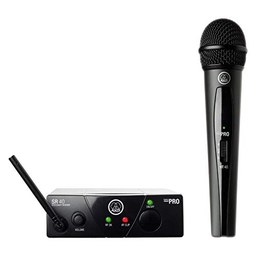 AKG WMS40 MINI VOC ISM1 - Micrófono inalámbrico (vocal, banda UHF), color negro