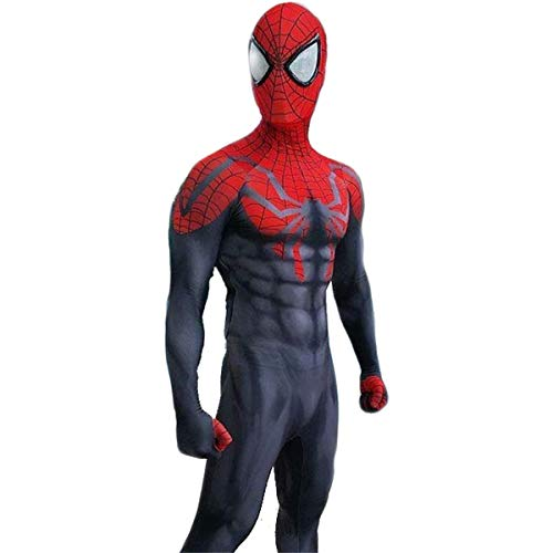 Vêtements Pour Hommes Cosplay Costume Spiderman Monopièce Justaucorps Et Rouge Noir Principal Spiderman Adulte Halloween Carnaval Personnalisable Taille Red-S