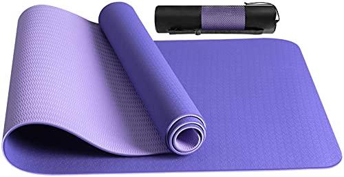 Tappetino Yoga jojobnj, Tappetino palestra fitness in TPE Ecologico, Tappetino Yoga per Uomini e Donne Fitness, Esercizio Pilates, 180 x 60 CM(Includi borsa)