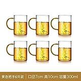 POL 300 ml de Vidrio Grueso Resistente al Calor Leche Copa de café Copa de cóctel Cristal Copa Transparente Copa de decoloración Mango Copa de Bebidacomo se Muestra