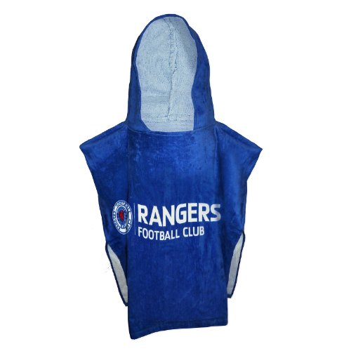 Rangers FC Official Football Gift Velour Hooded Bath Towel Poncho