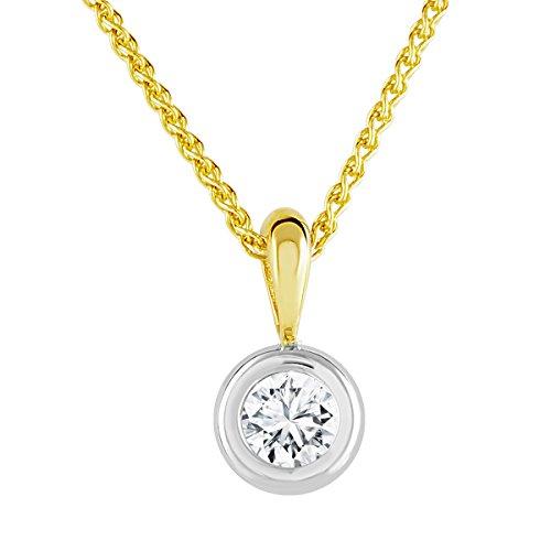 Diamond Line Diamond Line Damen - Halskette 585er Gold 1 Diamant