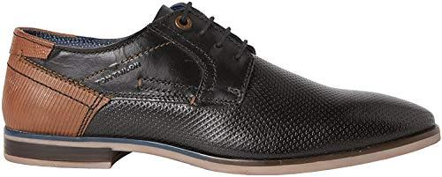 TOM TAILOR 4889101, Zapatos de Cordones Derby Hombre, Negro, 45 EU