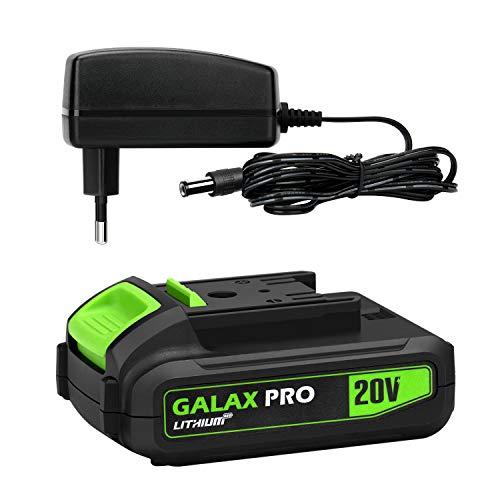 GALAX PRO 20V MAX 1.3Ah Batteria Agli Ioni di Litio e Caricabatterie Rapido, Batteria di Ricambio per Trapano Avvitatore a Batteria e Utensili Elettrici/ITGP-D6002