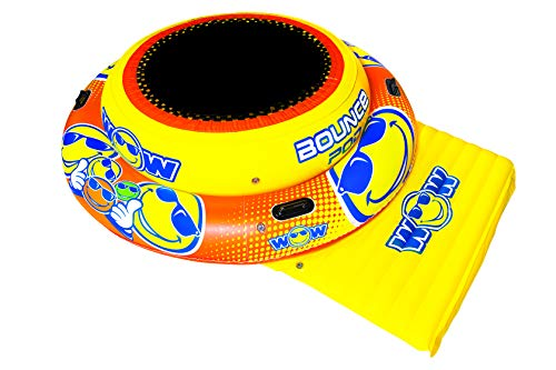 WOW Watersports World of Watersports Bounce Pod Inflatable, 1-2 Person, 20-2030, Yellow